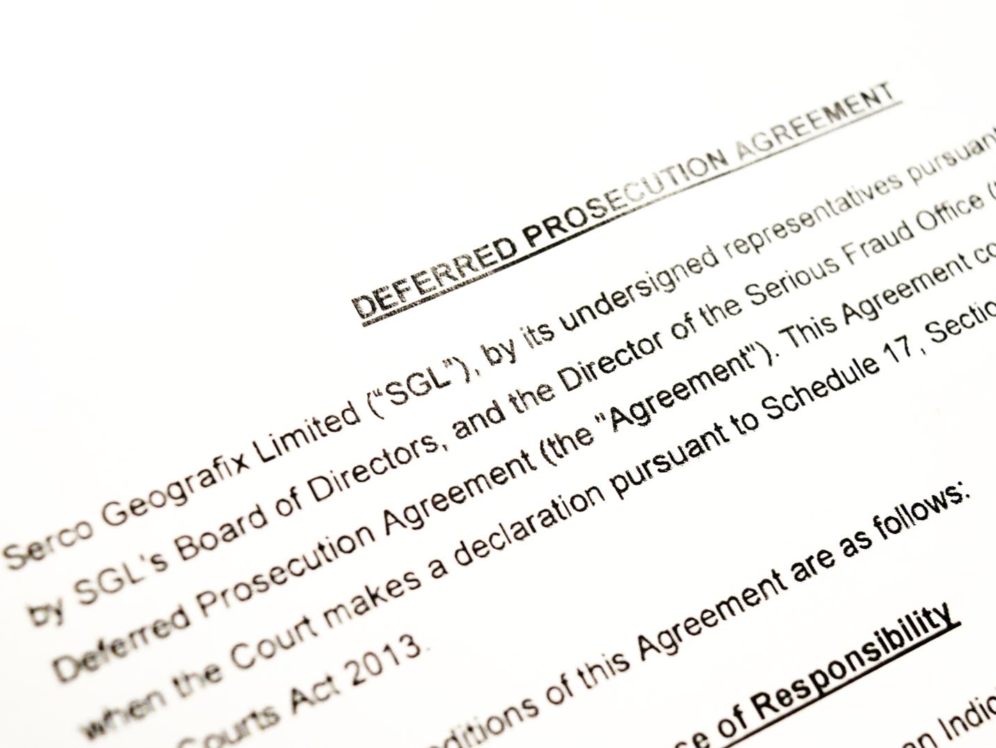 Deferred Prosecution Document